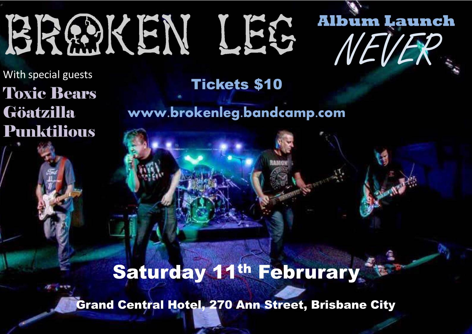 "Broken Leg ""Never"" album launch"